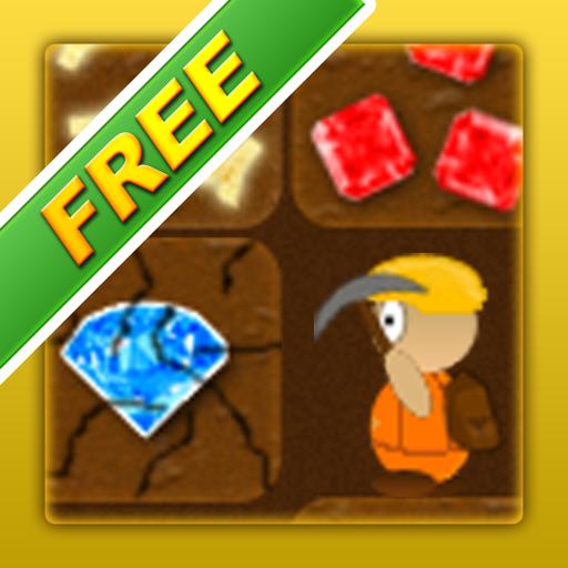 Treasure Miner Free - a 2d gem mining adventure For Mac