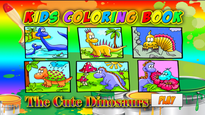 Kids Coloring Book - Cute Dinosaurs Park Learning for Fun screenshot one