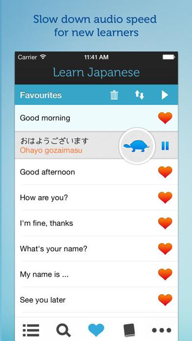 Learn Japanese - Phrasebook for Travel in Japan Screenshot