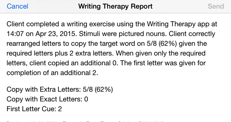 Writing Therapy – supported spelling practice for speech therapy screenshot-4