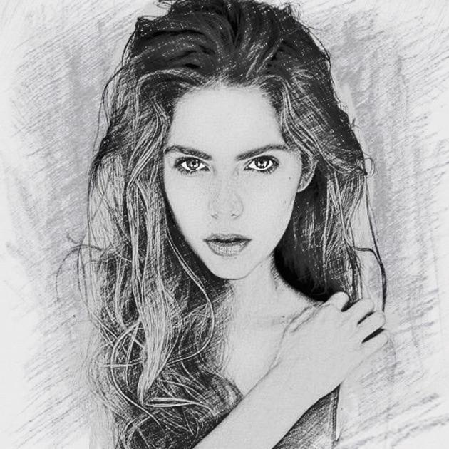 Photo sketch splash my pencil drawing with portrait for Blueprint sketch app
