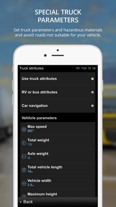 Sygic Truck GPS Navigation Screenshot