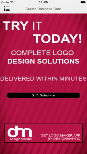 Design mantic business card maker on the app store iphone ipad reheart Choice Image