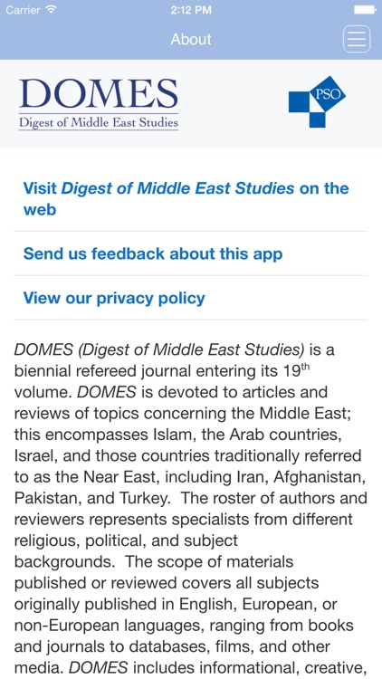 Digest of Middle East Studies screenshot-3