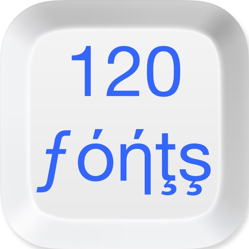 120 Fonts Keyboard