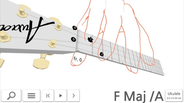 Awadon Chord 3D - Guitar, Ukulele and Guitalele 3D-Fingering Model ...