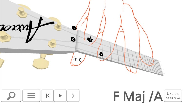 Awadon Chord 3D - Guitar, Ukulele and Guitalele 3D-Fingering Model screenshot-4