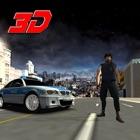 polícia carro de condução extrema 3d icon
