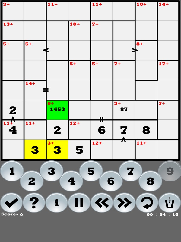 Greater than Killer-Sudoku - Online Game Hack and Cheat