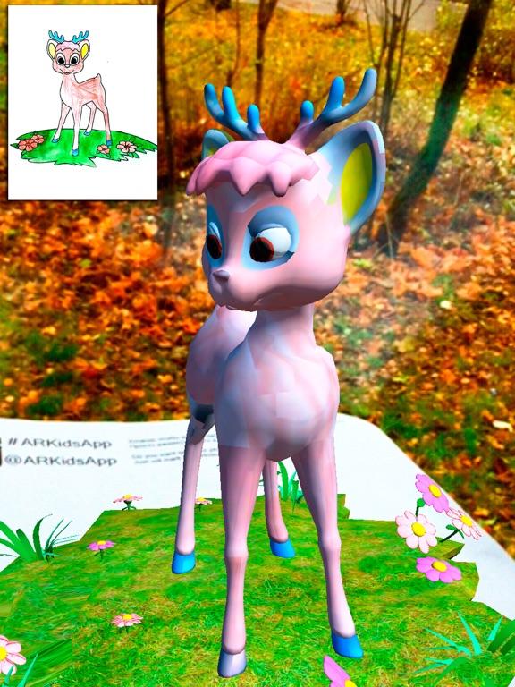 ARKids - AR 女の子のための着色ページ。 3D効果は、現実のゲームを増強します。ねこあつめ 無料.のおすすめ画像3