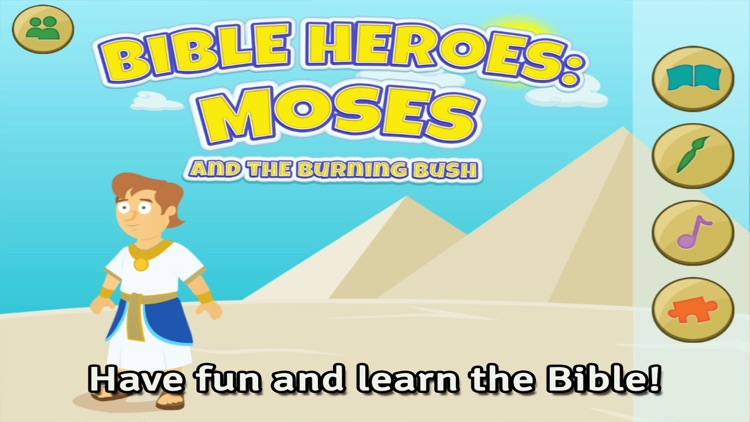Moses and the Burning Bush: Bible Heroes -  Teach Your Kids with Stories, Songs, Puzzles and Coloring Games! screenshot-0