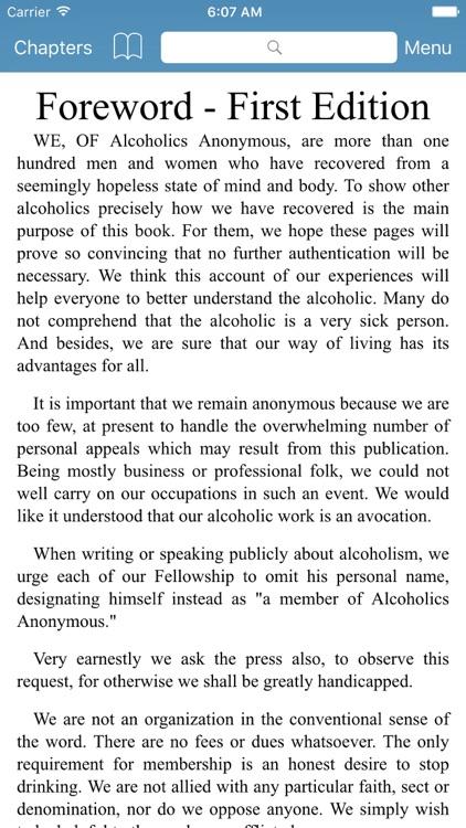AA Big Book - Alcoholics Anonymous screenshot-3
