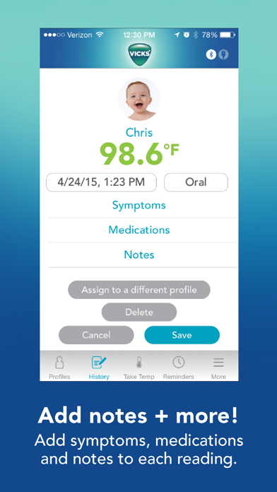 messages.download Vicks SmartTemp Thermometer software