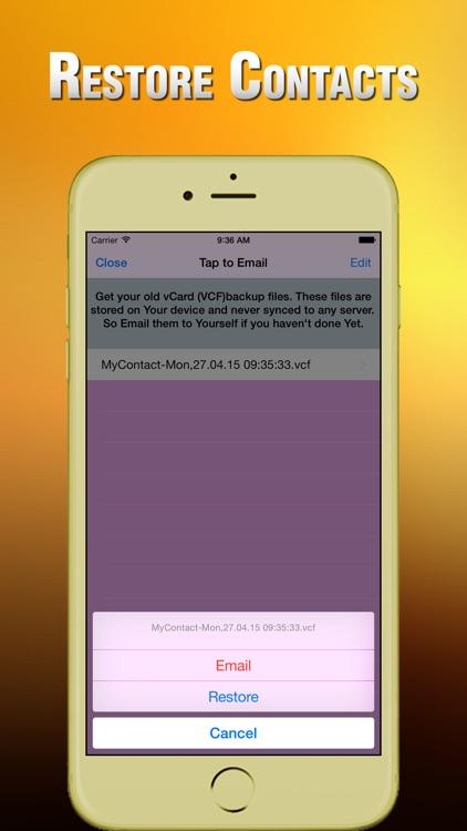 Contacts Backup & Transfer screenshot-3