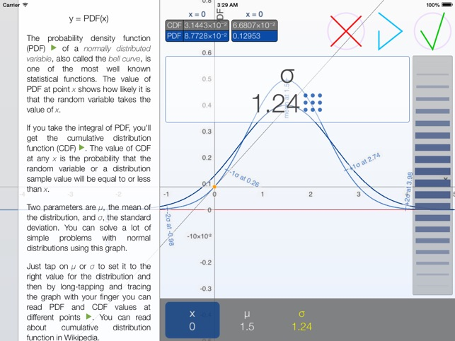 Bell Curves - graphing calculator for the normal