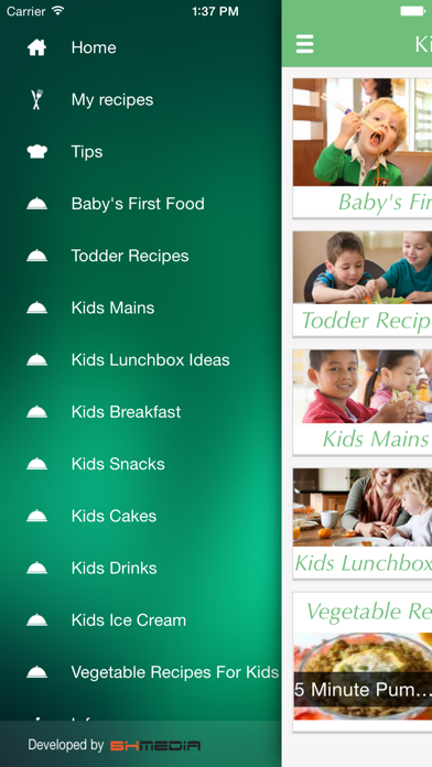 Kids Food - Recipes for babies toddlers and family . Screenshot 1