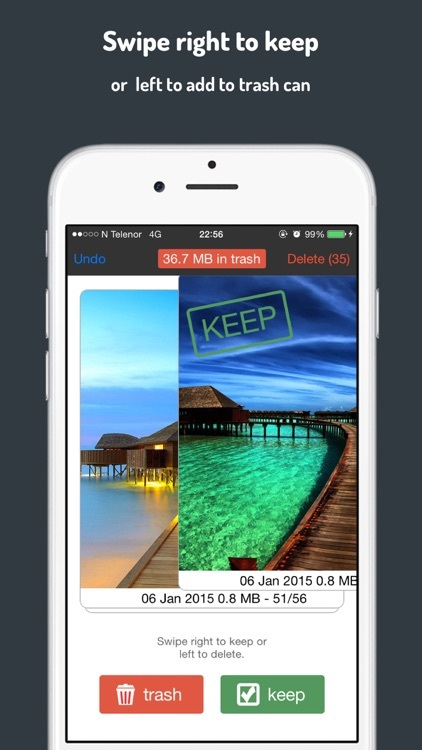Photo Trasher - Free up storage by quickly deleting unwanted photos from your camera roll