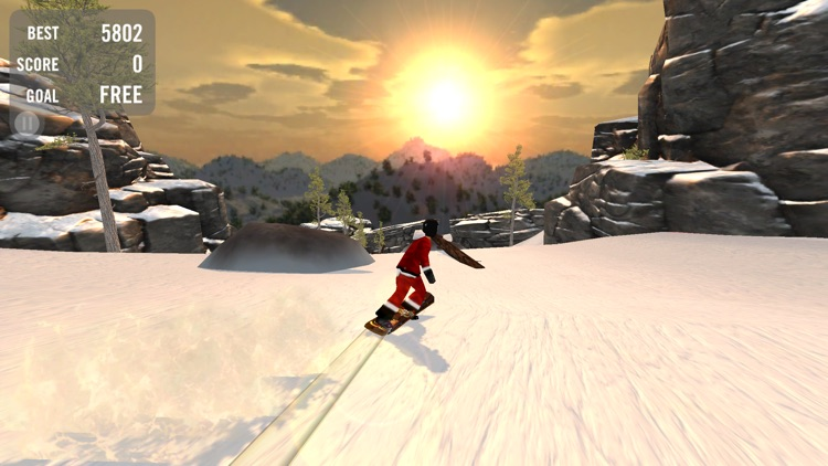 Crazy Snowboard Free screenshot-0