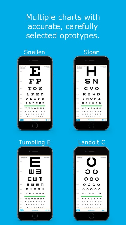 Eye Chart HD - Screen Vision with Pocket Snellen, Sloan, Near Vision, and Amsler Grid Test