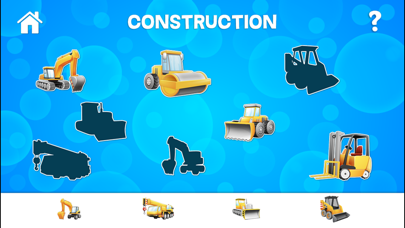 Tap Trucks and Things That Go Shape Puzzles
