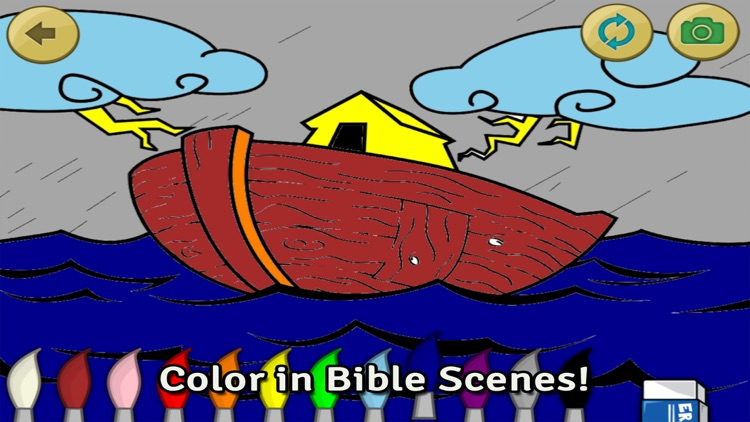 Bible Heroes: Noah and the Ark - Bible Story, Puzzles, Coloring, and Games for Kids screenshot-3