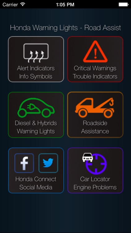 App for Honda Cars - Honda Warning Lights & Road Assistance - Car Locator