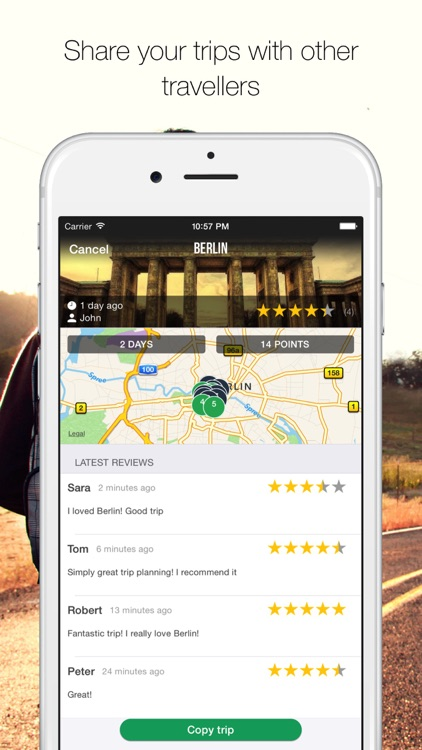 MyTRIPS - Route planner, trip organizer, offline maps, city guides screenshot-4