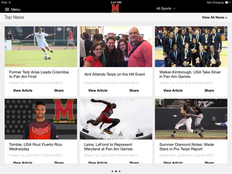 Maryland Terrapins for iPad 2015 screenshot-3