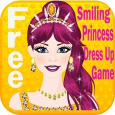 Activities of Smiling Princess Dress Up Game