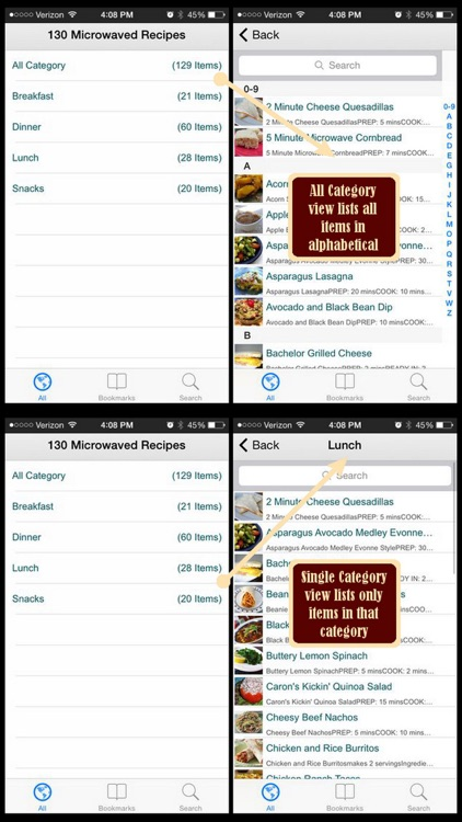 130 Microwaved Recipes screenshot-3
