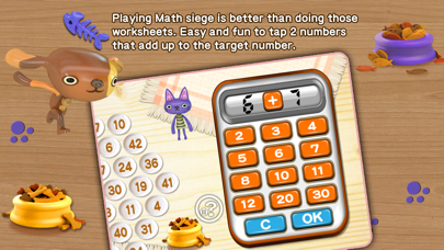 Cat & Dog - Math Siege Educational Game for kids Screenshot on iOS