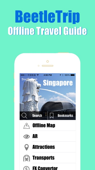 Singapore travel guide and offline city map Beetletrip