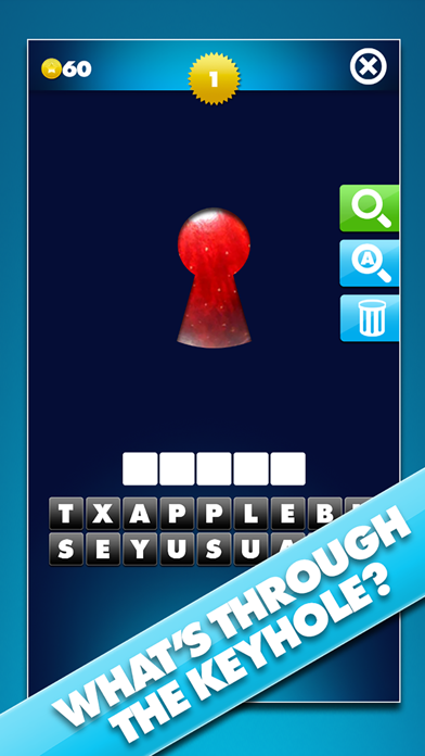 Through The Keyhole - Take a peek at the pic and guess the word screenshot one