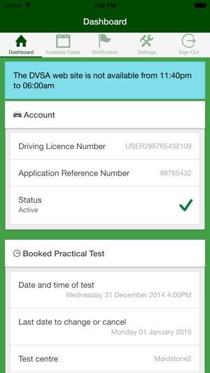 UK Driving Test Cancellations on the App Store