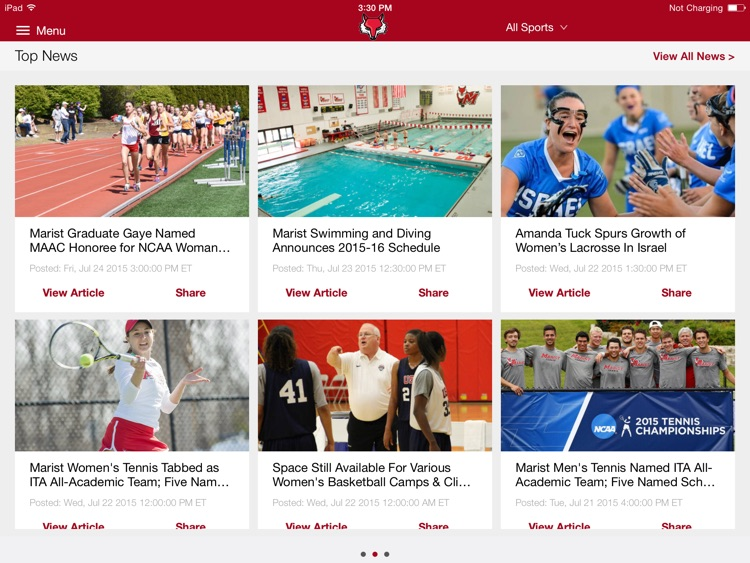 Marist College Athletics for iPad 2015 screenshot-3