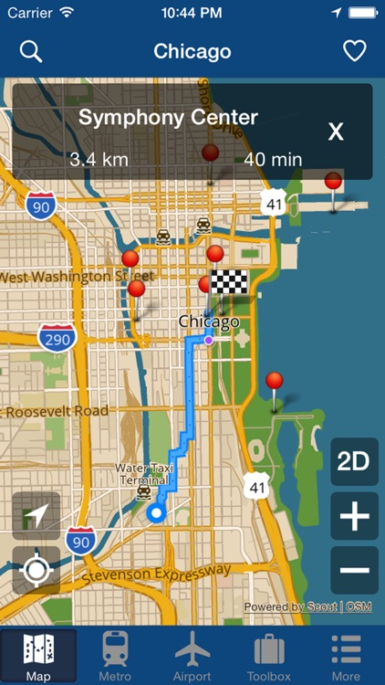 Chicago Offline Map - City Metro Airport screenshot-4