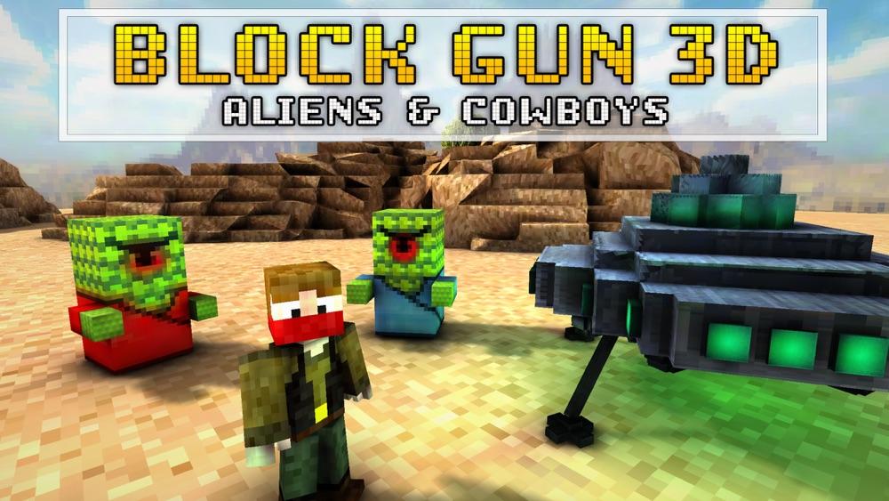 Block Gun 3D: Aliens and Cowboys