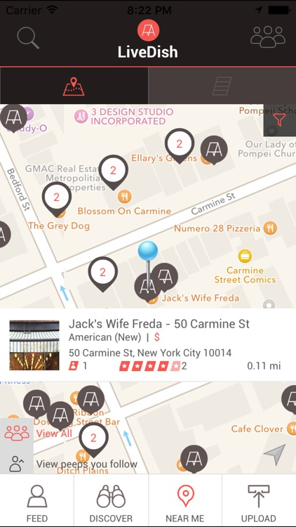 LiveDish : NYC's premier app for restaurant reviews, food photos, and menus.