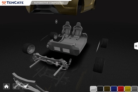 TenCate Advanced Composites - 3D car explorer screenshot 3