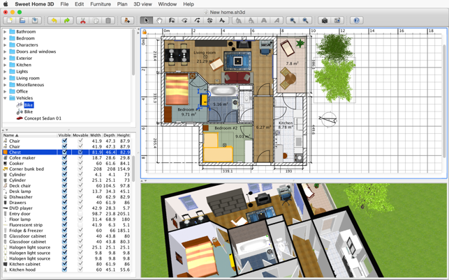 Free interior design software that helps you draw the plan of your house