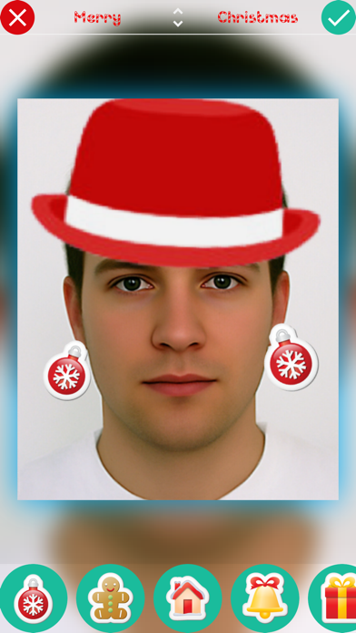 Christmas Stickers - Photo Booth Editor with Holiday Christmas Stickersのおすすめ画像2