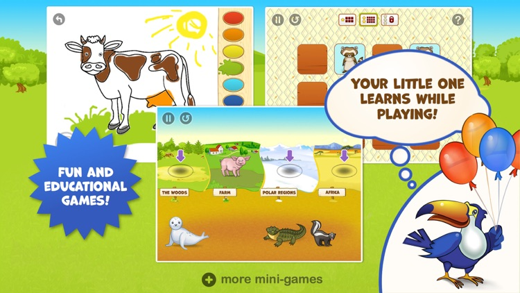 Zoo Playground - Games with animated animals for kids