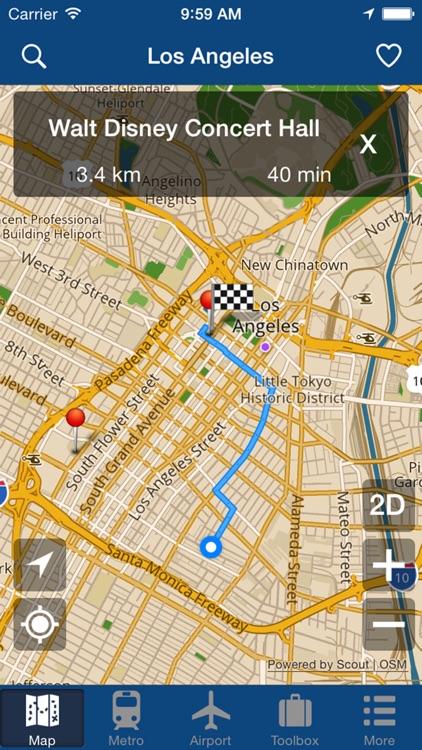 Los Angeles Offline Map - City Metro Airport screenshot-4