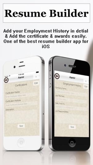 Resume Builder Pro - CV Maker and Resume Designer with PDF Output ...