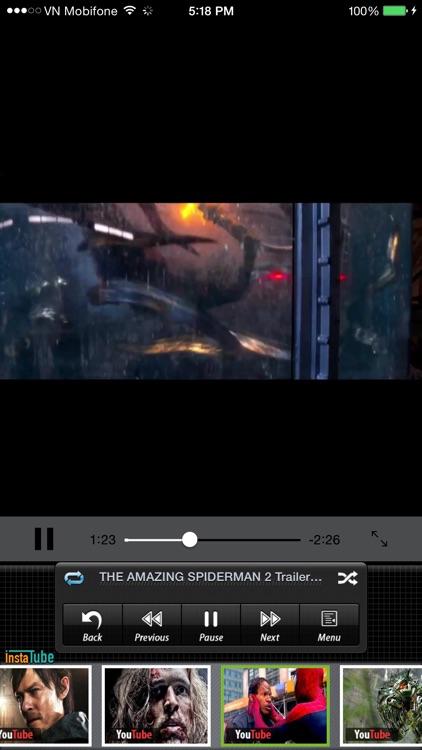 Instatube - Video Player for YouTube, Vimeo & Dailymotion screenshot-3