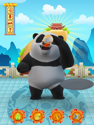 Talking Bruce the Panda for iPad Скриншоты5
