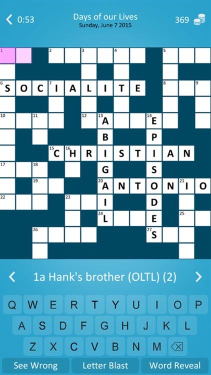 Soap Crossword Puzzle