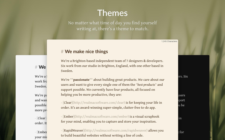 Screenshot do app Focused - Minimal Markdown App