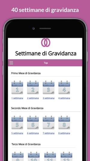 Calendario Gravidanza Mesi Settimane.Settimane Gravidanza Calendario Di Gravidanza On The App Store