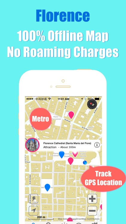 Florence travel guide and offline city map, Beetletrip Augmented Reality Florence Metro Train and Walks screenshot-3